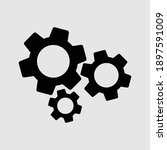 settings icon isolated vector...   Shutterstock .eps vector #1897591009