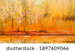 abstract colorful oil painting... | Shutterstock . vector #1897609066