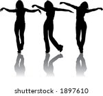 vector silhouettes young girl ... | Shutterstock .eps vector #1897610