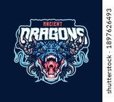 ancient dragon mascot logo...   Shutterstock .eps vector #1897626493