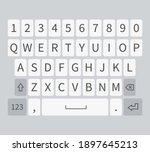 smartphone keyboard. white...