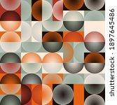mid century geometric abstract... | Shutterstock .eps vector #1897645486