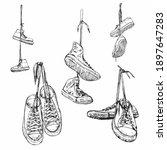 sketch vector set of different... | Shutterstock .eps vector #1897647283