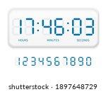 digital clock numbers. flat...   Shutterstock .eps vector #1897648729