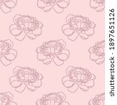 floral repeat pattern  peony...   Shutterstock .eps vector #1897651126