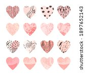 vector colorful set with hearts ...   Shutterstock .eps vector #1897652143