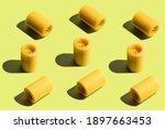 Hard Light Pattern Of Yellow...