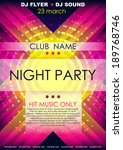 vertical color music party... | Shutterstock .eps vector #189768746