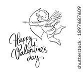 happy valentine's day... | Shutterstock .eps vector #1897687609