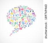 social media texture in talk... | Shutterstock .eps vector #189769460