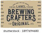 vintage label font named... | Shutterstock .eps vector #1897694680