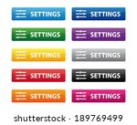 settings buttons. vector...