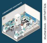 laboratory diagnostics analysis ... | Shutterstock .eps vector #1897697326