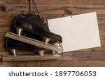 old black ice hockey skates...   Shutterstock . vector #1897706053