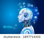 artificial intelligence digital ... | Shutterstock .eps vector #1897714333