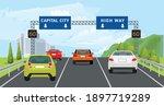 traffic vecter figure car... | Shutterstock .eps vector #1897719289
