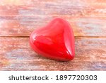 Red Handmade Carved Hearts On...