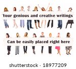 we want you to put us to good... | Shutterstock . vector #18977209