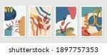 botanical wall art vector set.... | Shutterstock .eps vector #1897757353
