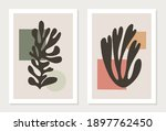 set of matisse inspired... | Shutterstock .eps vector #1897762450