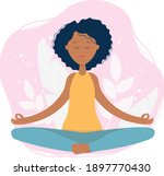 young african american woman...   Shutterstock .eps vector #1897770430