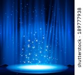 blue stage with spotlight.... | Shutterstock .eps vector #189777938