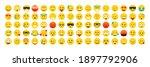 set of emoticons. emoji. smile...   Shutterstock . vector #1897792906