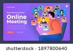 illustrations flat design... | Shutterstock .eps vector #1897800640