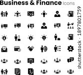 business and finance icon set | Shutterstock .eps vector #1897801759