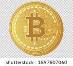 close up of 3d golden bitcoin... | Shutterstock .eps vector #1897807060