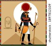 religion of ancient egypt.  ra...   Shutterstock .eps vector #1897812109