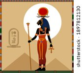 religion of ancient egypt. ... | Shutterstock .eps vector #1897812130