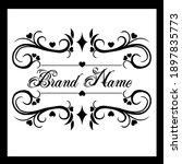 vintage style logo   beautiful...   Shutterstock .eps vector #1897835773