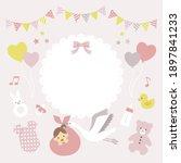 baby shower invitation card for ...   Shutterstock .eps vector #1897841233
