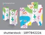 packaging box  packaging design ... | Shutterstock .eps vector #1897842226