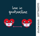 valentines day card with...   Shutterstock .eps vector #1897868590