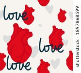 seamless valentines day pattern ...   Shutterstock .eps vector #1897868599
