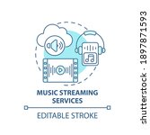 music streaming services... | Shutterstock .eps vector #1897871593