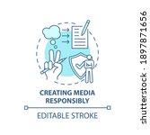 creating media responsibility... | Shutterstock .eps vector #1897871656
