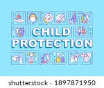 child protection word concepts...