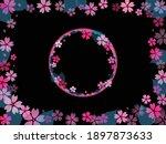 cherry blossom retro wallpaper ...   Shutterstock .eps vector #1897873633