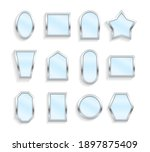 realistic empty mirrors with...   Shutterstock .eps vector #1897875409