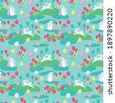 Seamless Easter Pattern. Cute...