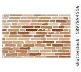 hand drawn brick wall. brick...   Shutterstock .eps vector #1897894516