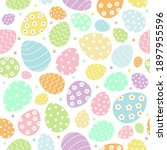 vector colored easter eggs... | Shutterstock .eps vector #1897955596