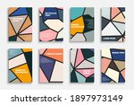 set of colorful polygonal... | Shutterstock .eps vector #1897973149