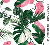Tropic Summer Painting Seamless ...