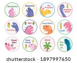 Reward Stickers Set With Cute...