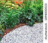Decorative Garden With Pathway...
