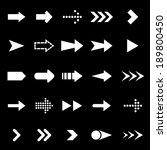 arrow icons on black background ... | Shutterstock .eps vector #189800450
